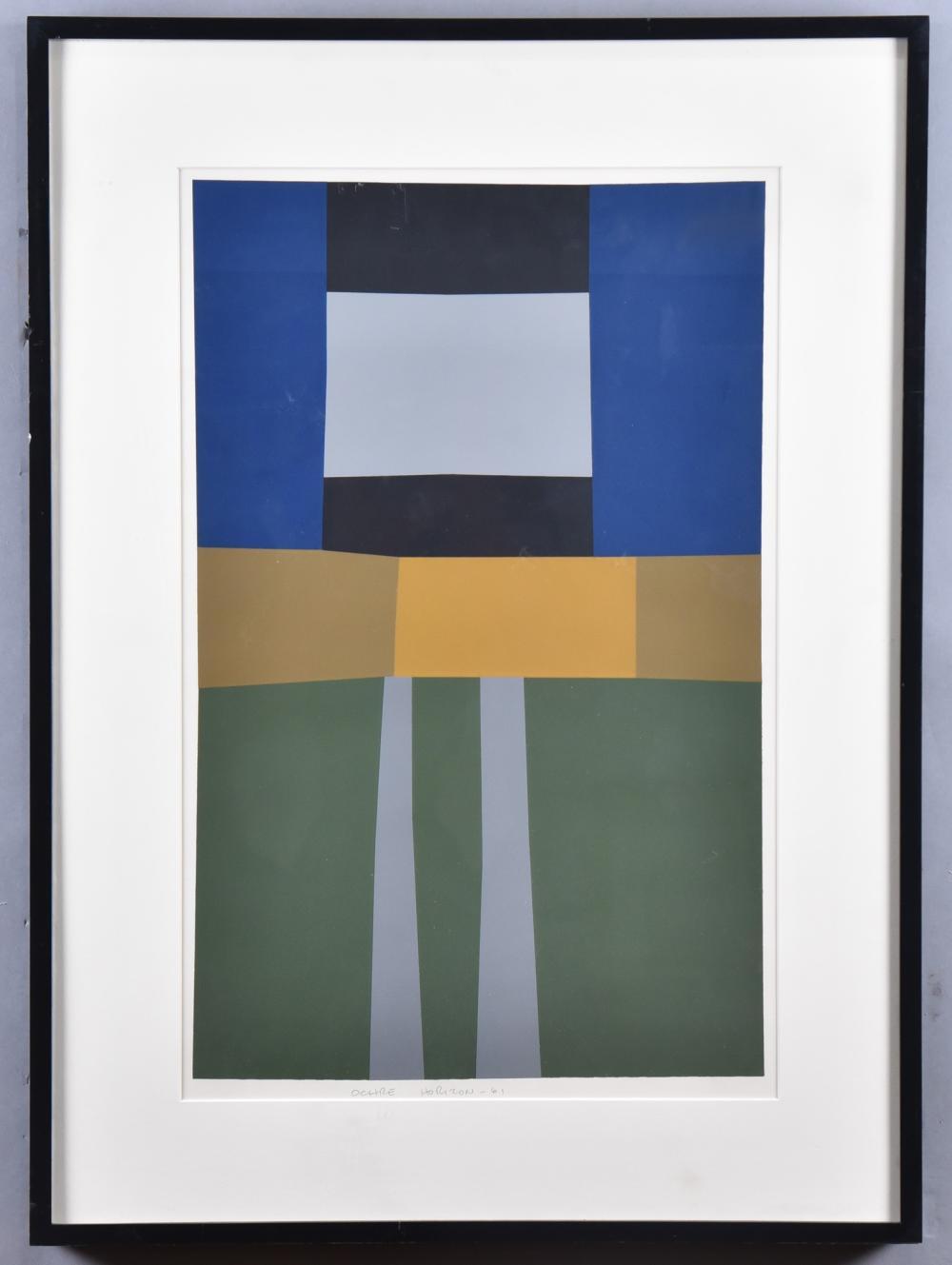 Harold Krisel, New York (1920-1995), Ochre Horizon, 1961, serigraph, 21 x 13 1/4 inches