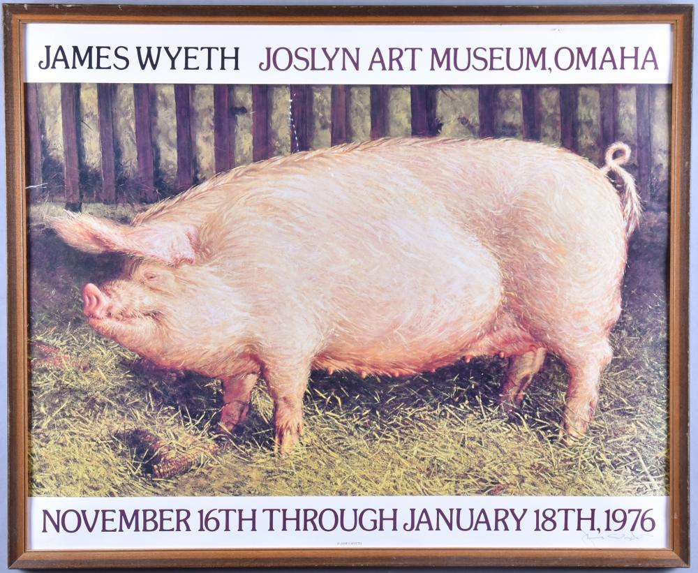 Jamie Wyeth, American (b. 1946), Joslyn Art Museum , Omaha Exhibition Poster, offset lithograph, 21 x 27 inches