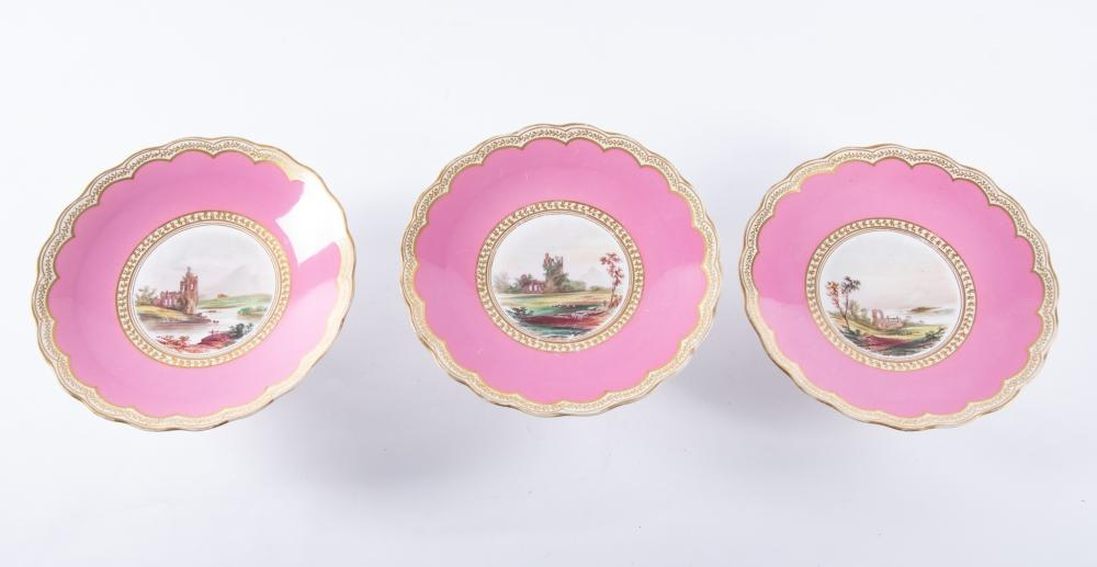 An Antique English Dessert Service, likely Copeland, Mid-19th Century