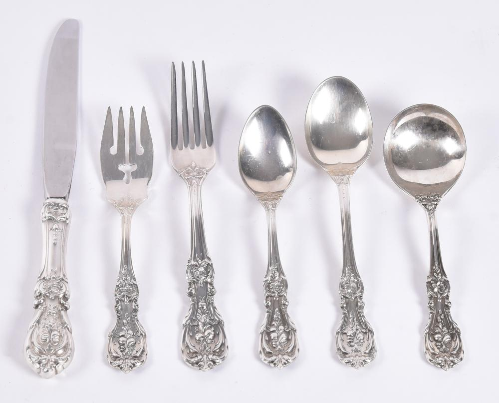 Reed & Barton Sterling Silver Flatware Service for 12, Frances Ist