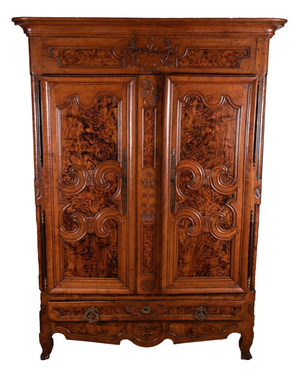 19th Century Belgian Armoire 82 x 61 x 24 inches