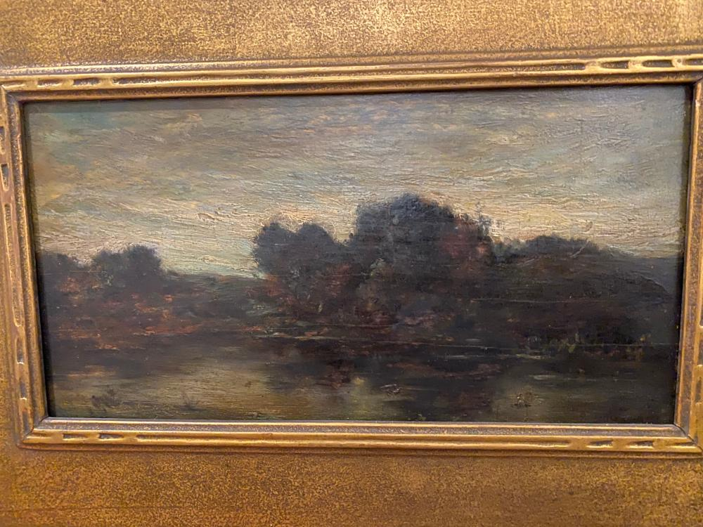 Charles Francois Daubigny, French 1817-1878, Landscape, oil on panel, 7 x 12 1/2 inches