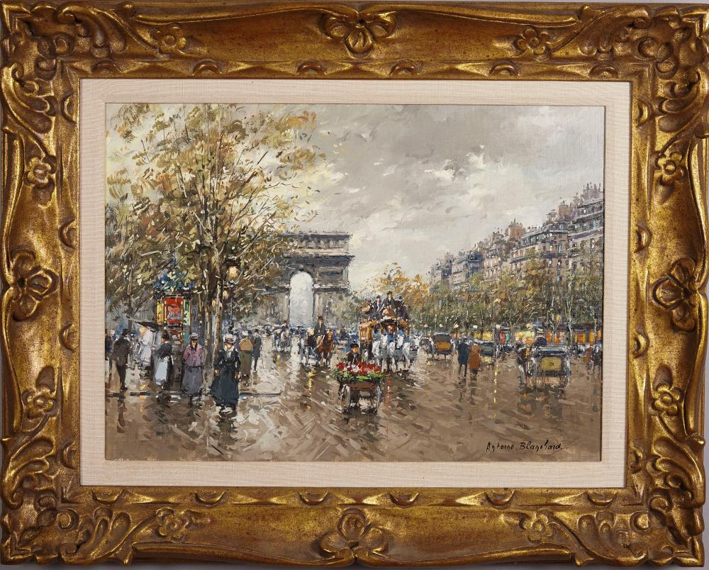 Antoine Blanchard, French , Arc de Triomphe, oil on canvas, 12 x 17 1/2 inches