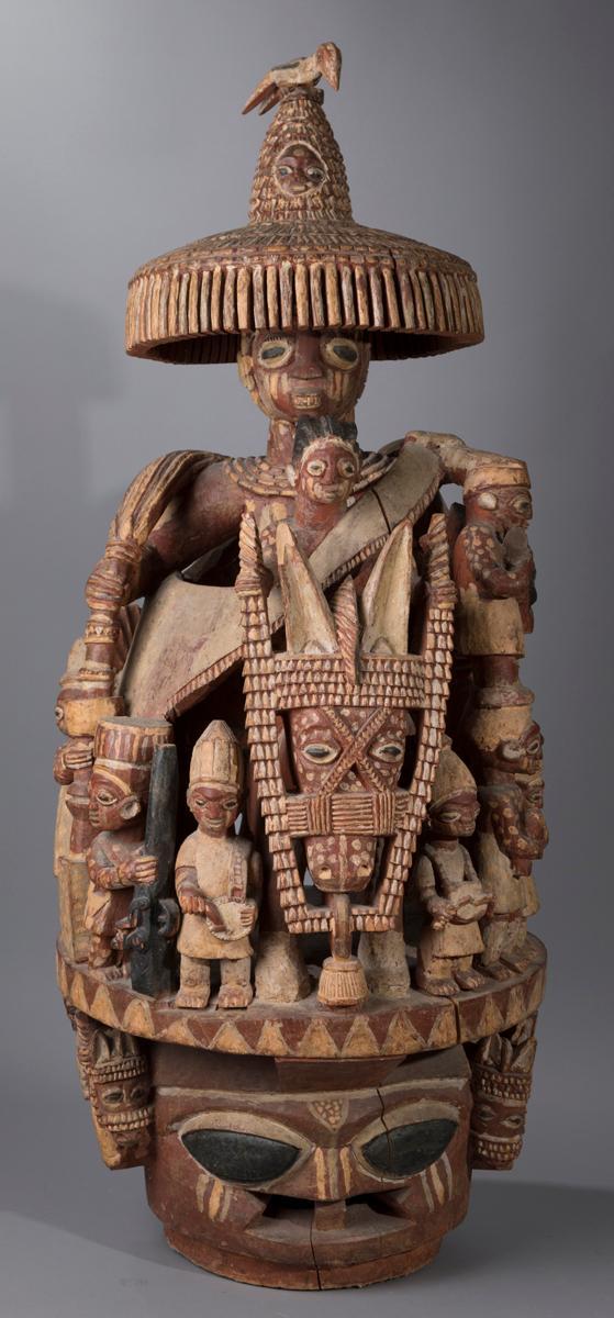 A Fine and Intricate Yoruba Epa Helmet Mask
