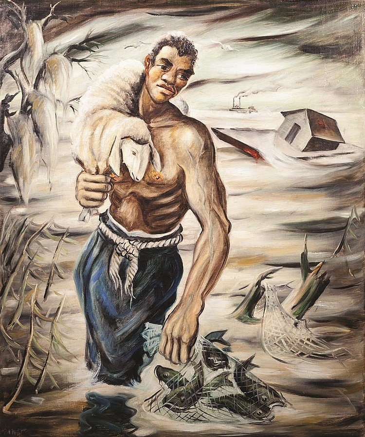 Joseph Paul Vorst, American (1897-1947), Southern Mississippi, 1941, oil on canvas, 30 1/4 x 25 1/4 inches