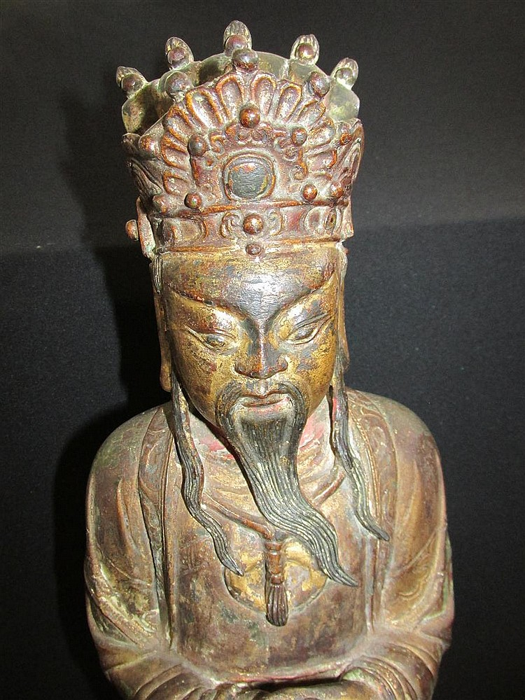 Chinese Ming Bronze of a Daoist Figure