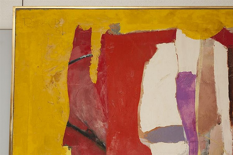 William Ronald, Canadian (1926-1998), Seer, 1960-61, oil on canvas, 68 3/4 x 68 3/4 inches