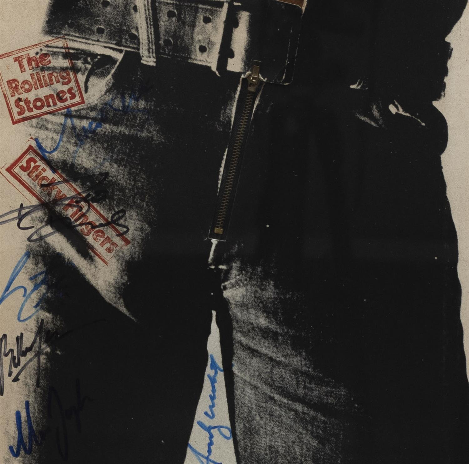 Andy Warhol (and five) Signed Sticky Fingers Album