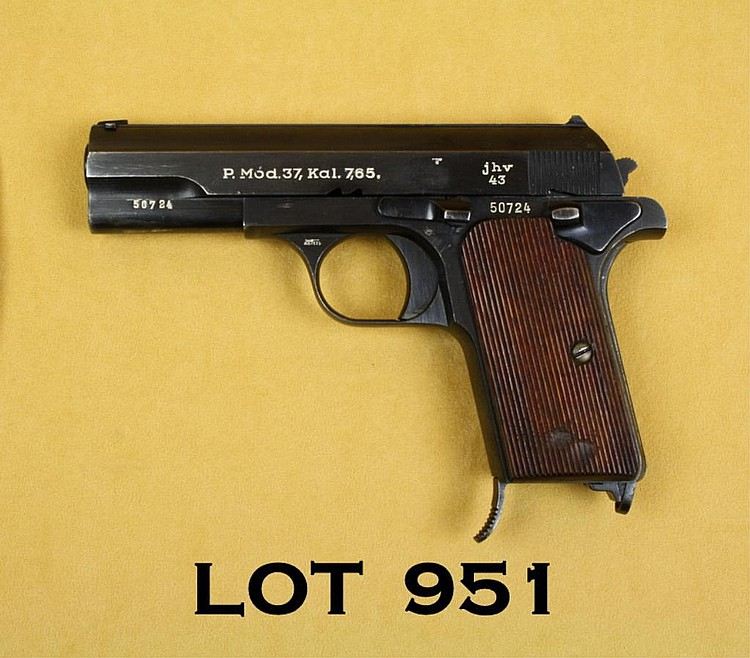 Femaru Model 37 semi-auto pistol, 7.65 cal.,