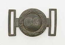 Two piece Confederate officers belt buckle and