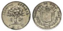 Costa Rica 5 Centavos 1870, rare, EF