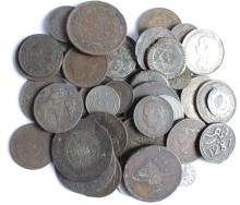 World Coins (60) including Thailand, Turkey etc, noted 23x silver, mixed grade.