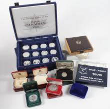 World Silver Proof/BU issues in a stacker box, includes sets, boxed items etc.