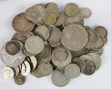 World Silver (79) 19th-20thC from crown-size to minors, mixed grade, a few may be nickel.