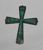 Silver Turquoise Indian Cross