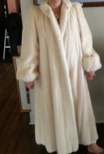 White Mink Sable Fur Coat