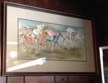Horse Race Watercolor