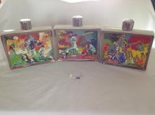 3 Liquor Decanters -  Nieman *Brillant Colors*
