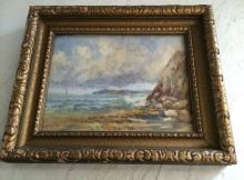 Ocean Front Watercolor signed by L. Cornea