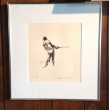 Baseball Pen & Ink by Neimans