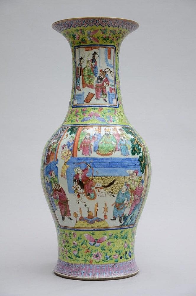grand vase chinois en porcelaine de canton 39 person