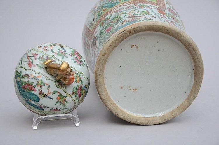 Une potiche cantonaise en porcelaine de chine h 6 for Porcelaine de chine