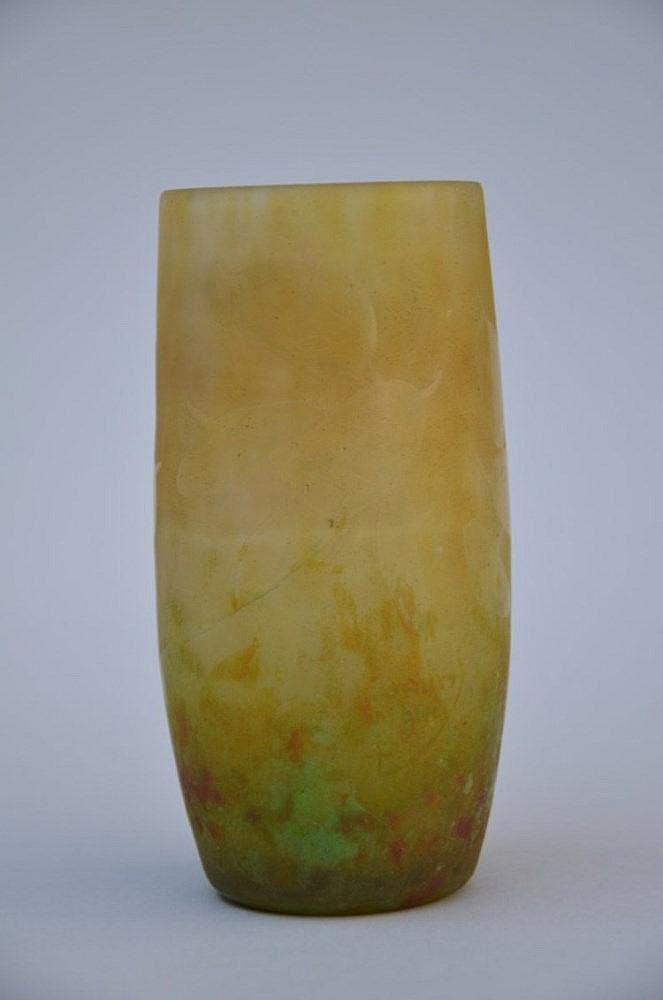 vase en p 226 te de verre sign 233 daum 224 nancy h12 5