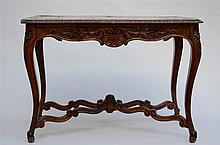 A walnut Louis XV style table (110x69x74cm)