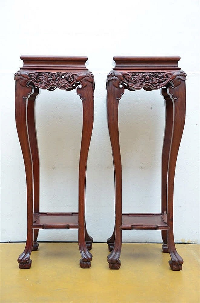 A chinese hardwood furniture set bench 4 armchairs coffee for Furniture 4 a lot less