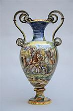 Large vase in Italian faenza (87cm)