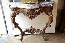 Louis XV style console (100x92cm)