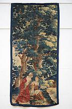 Fragment of a Flemish tapestry 17th century 'figure' (*) (102x215cm)