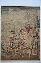 Fragment of a tapestry 'hunting scene' (*) (170x228cm)