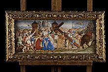 Gaudenzio Ferrari : drawing 'the way of the cross', Italy 16th century (*) (57x24cm)