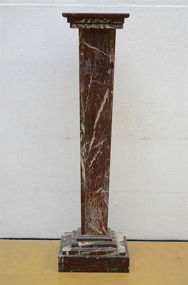 Decorative Column In Red Marble 102cm