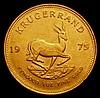 South Africa Krugerrand 1975 toned EF