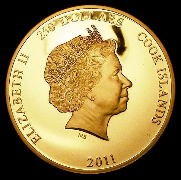 Cook Islands 250 Dollars 2011 Princess Diana 50th Birthday 5oz.Gold Proof, FDC in a Westminster box with certificate, number 15 of just 45 pieces issued