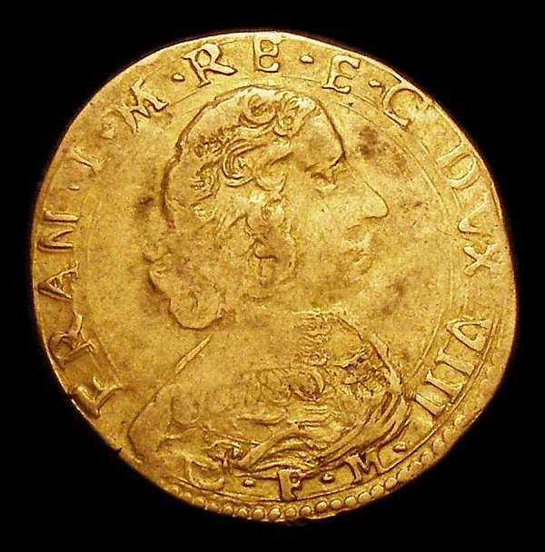 Italian States - Modena 2 Scudi d'Oro undated (c.1630-1632) Bust of Frencesco I to right, weight 6.4 grammes, Fine