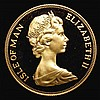 Isle of Man Two Pounds 1977 Gold Proof nFDC uncased