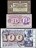 Switzerland (3) 100 Franken Large Format 1971 issue, signatures type 42, Pick 49, 10 Franken 1973 issue Pick 45, 5 Franken 1951 Pick 11o VF to EF