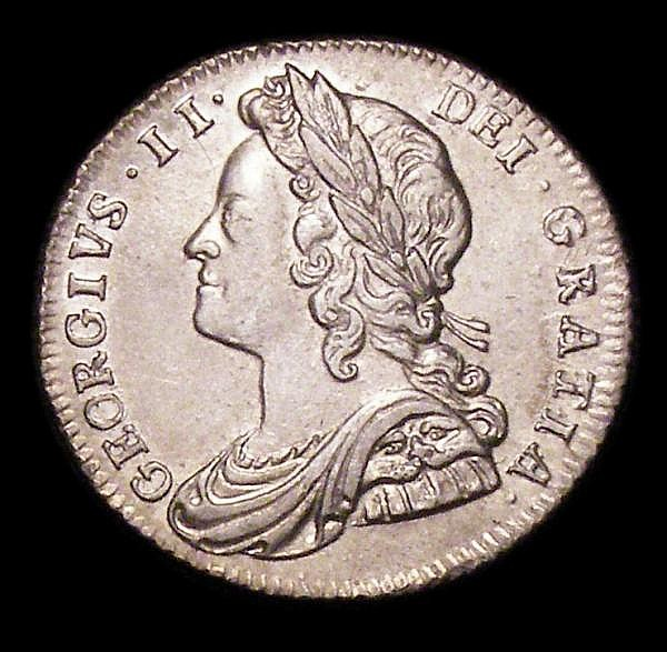 Sixpence 1728 Roses and Plumes ESC 1606 EF