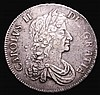 Crown 1672 VICESIMO QVARTO ESC 45 VF/NVF the obverse with a thin scratch in the field, the reverse with some small scratches and light hairlines