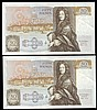 Fifty pounds Gill B356 (2) a consecutively numbered pair series C15 195484 & C15 195485, Pick381b, GEF to about UNC