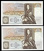Fifty pounds Gill B356 (2) a consecutively numbered pair series C15 195478 & C15 195479, Pick381b, GEF to about UNC