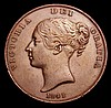Penny 1841 REG: Peck 1480 GVF with an edge bruise, the rarity of these pieces somewhat underrated by major catalogues