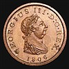 Penny 1806 Copper Proof Peck 1327 KP31 UNC toned, the reverse with a few small spots