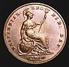 Penny 1846 DEF Far Colon Peck 1490 AU/GEF toned with a light edge bruise