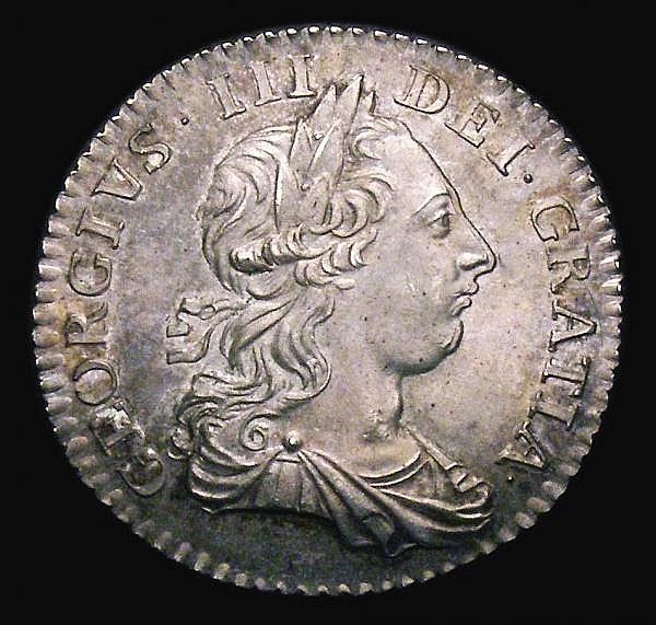 Shilling 1763 Northumberland ESC 1214 Unc with a rich even tone, graded 78 by CGS and the highest grade so far recorded for this type being joint finest of 13 on the CGS (LCGS) population report