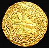 Noble Richard II Calais Mint, R in centre of reverse, pellet above shield, Spink type IIIb,North 1307, 7.67 grammes, Good Fine/Fine, a detector find
