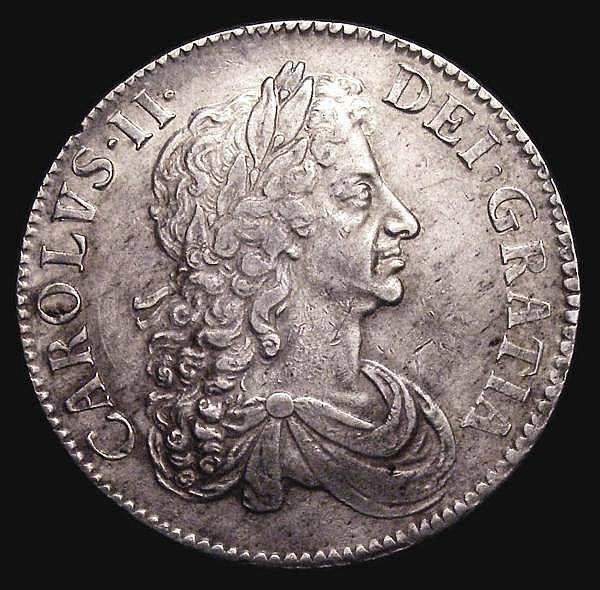 Crown 1671 Third Bust VICESIMO TERTIO ESC 43 GVF/About VF the obverse with an excellent bold strike for the type, a most pleasing example